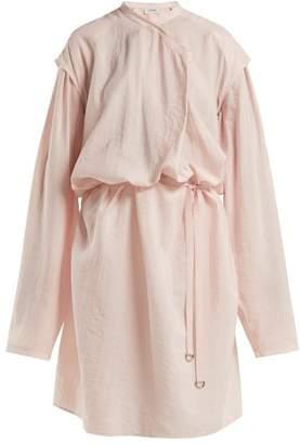 Lemaire Hammered Silk Blend Dress - Womens - Light Pink