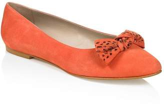 Deluxe By Lts Deluxe Kid Suede Bow Ballerina