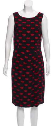 Prada 2011 Lip Print Dress
