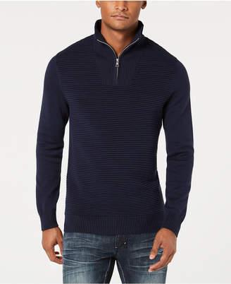 INC International Concepts I.N.C. Men's Dean Ottoman Stitch Quarter-Zip Sweater, Created for Macy's
