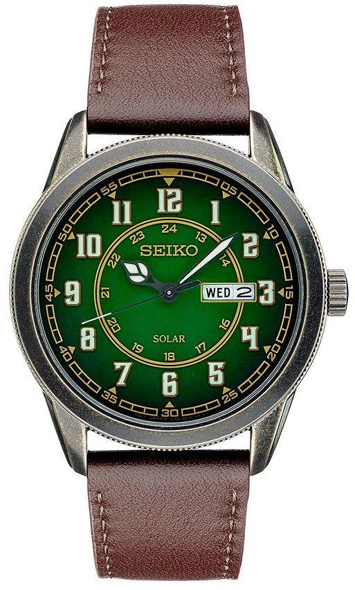 SeikoSeiko Men's Recraft Leather Solar Watch