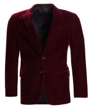 Giorgio Armani Slim Fit Stretch Solid Velvet Dinner Jacket