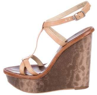 Elizabeth and James Embossed Platform Wedges