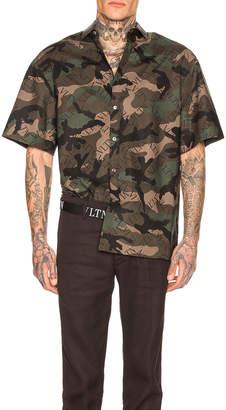 Valentino Shirt in Army Camo & Black   FWRD