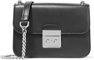 MICHAEL Michael Kors - Sloan Editor Leather Shoulder Bag - Black $278 thestylecure.com