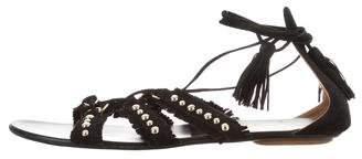 Aquazzura Tulum Fringe Sandals