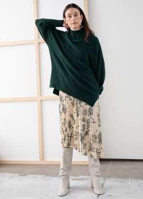 And other stories Oversized Mock Neck Sweater