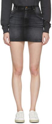 Saint Laurent Black Denim Property Miniskirt