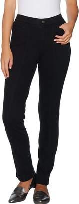 Isaac Mizrahi Live! Petite Knit Denim Slim Leg Jeans w/ Pocket