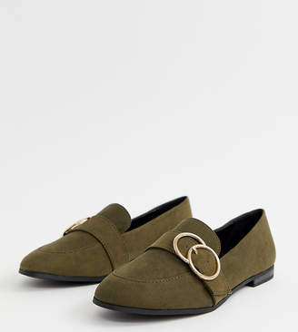 New Look double ring loafer in khaki