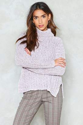 Nasty Gal Keep Calm Turtleneck Sweater