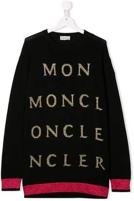 Moncler glitter logo jumper dress