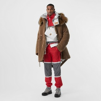 Burberry Shearling Parka with Detachable Hood and Jacket