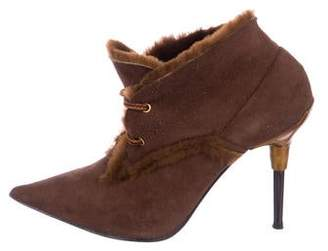 Casadei Suede Ankle Booties