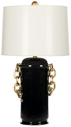 One Kings Lane Bradburn Home For Chain Table Lamp - Black/Gold