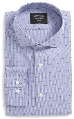 Nordstrom Trim Fit Stripe Fil Coupe Dress Shirt