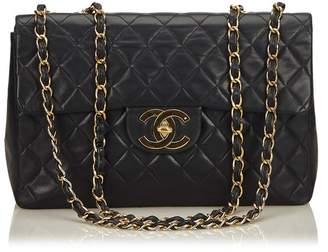Chanel Vintage Classic Maxi Lambskin Leather Single Flap Bag