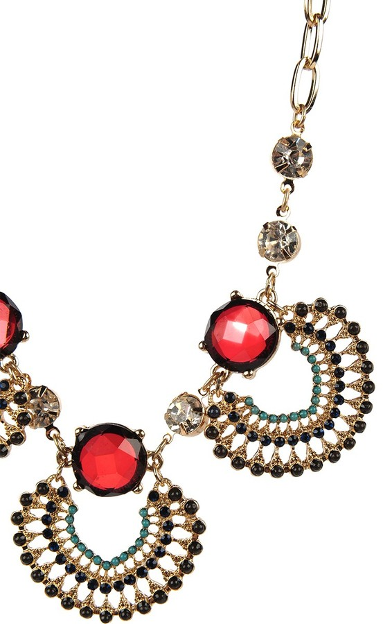 Armitage Avenue Ruby and Stud Statement Necklace