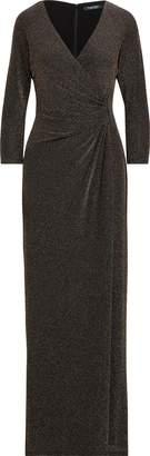 Ralph Lauren Metallic Jacquard Gown
