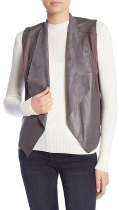 KUT from the Kloth Eileen Faux Leather Drape Vest