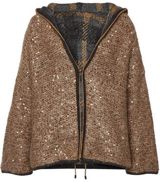 Brunello Cucinelli Sequin Cardigan with Mohair, Cashmere and Wool