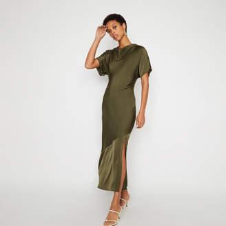 b1c68de7 Warehouse Cowl Front Slinky Maxi Dress