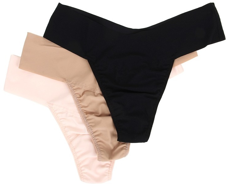 Hanky Panky - BARE Eve Natural Rise Thong 3-Pack Women's Underwear