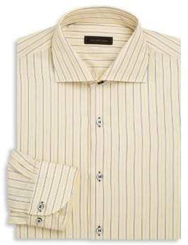 Saks Fifth Avenue COLLECTION Striped Cotton Dress Shirt