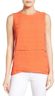 Women's Chaus Crinkle Woven Sleeveless Blouse $69 thestylecure.com