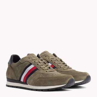 Tommy Hilfiger Luxury Suede Signature Stripe Trainers