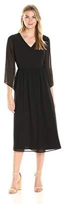 James & Erin Women's Bell Sleeve Georgette Maxi