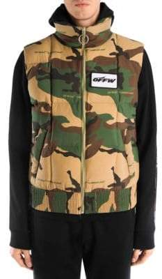 Off-White Camouflage Puffer Vest