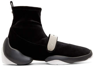 Giuseppe Zanotti Black Light Jump Stretch High-Top Sneakers