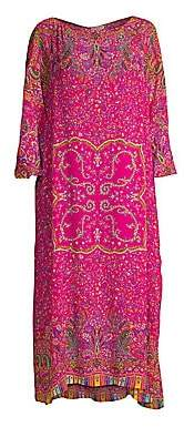Etro Women's Maxi Floral Kaftan Dress