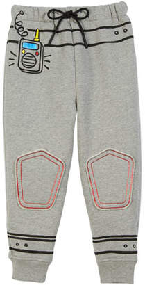 Burberry Space Graphic Sweatpants, Size 4-10