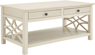 Linon Whitley Antique White Coffee Table