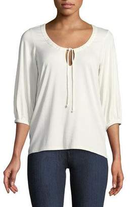 Rachel Pally Logan 3/4-Sleeve Tie-Front Top, Plus Size