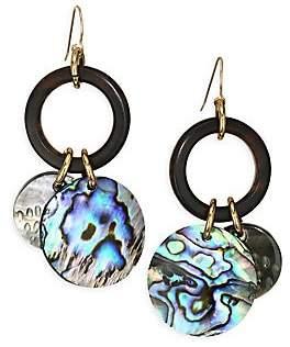 Nest Women's Abalone Charm Drop Earrings