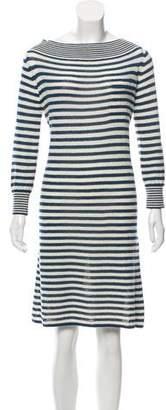 Louis Vuitton Striped Knee-Length Dress