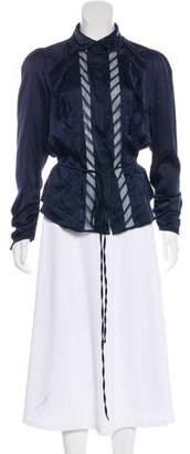 Edun Long Sleeve Silk Blouse