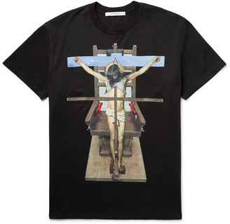 Givenchy Columbian-Fit Printed Cotton-Jersey T-Shirt $550 thestylecure.com