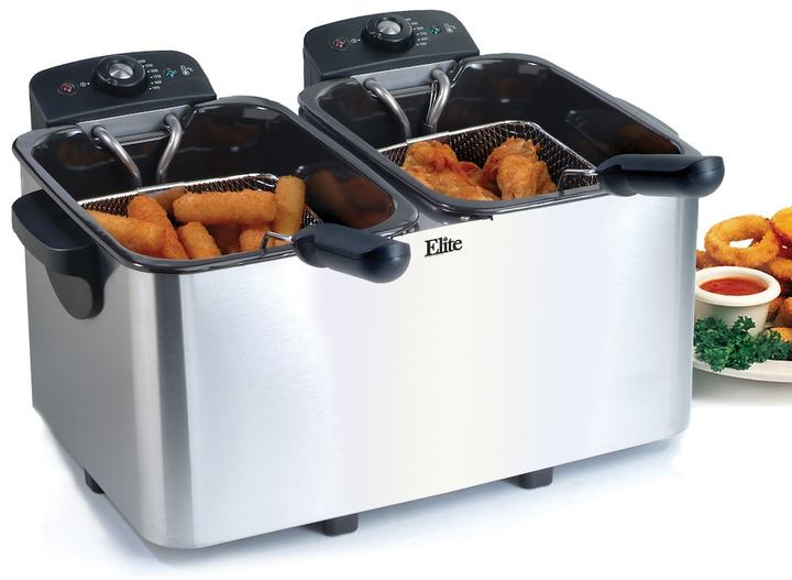Elite Platinum 6-qt. Immersion Dual Basket Deep Fryer