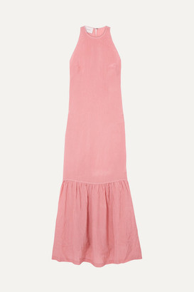 Marios Schwab On The Island By Ogygia Tiered Satin Maxi Dress - Pink