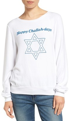 Women's Wildfox Happy Challahdays Pullover $98 thestylecure.com