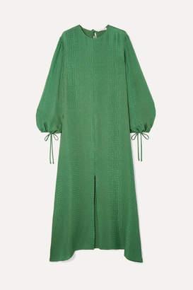 Olivia von Halle Margeaux Silk-jacquard Maxi Dress - Emerald