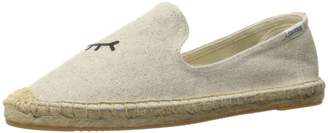 Soludos Women's Wink Embroidered Smoking Slipper, Sand, 7.5 B US