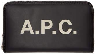A.P.C. Black Morgan Continental Wallet