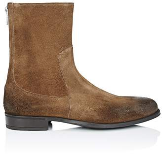 Doucal's Men's Oiled Suede Tapered-Toe Boots