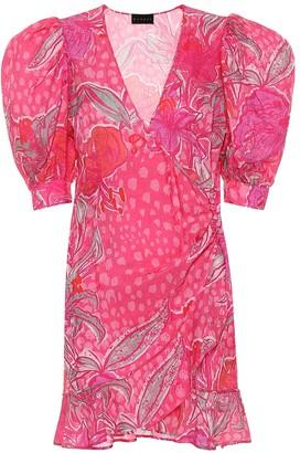 Dundas Jacquard silk-blend minidress