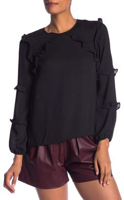 Cynthia Steffe CeCe by Tiered Ruffle Blouse